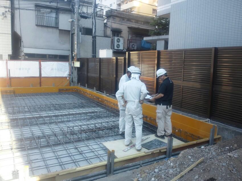木造耐火建築 基礎配筋検査