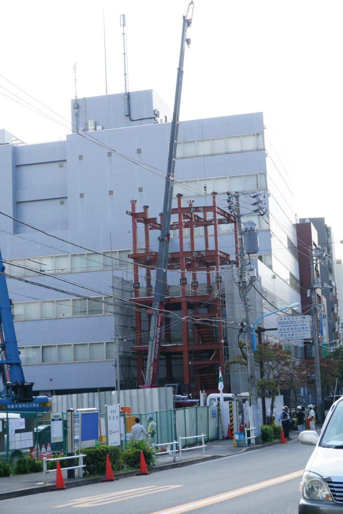 鉄骨6階建て(東京都新宿区余丁町)